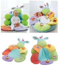 Sedersi gonfiabili online-1 pz- Colore blu ELC Blossom Farm Sit Me Up Cosy- Baby materassino nido nido bambino divano gonfiabile giocattolo per bambini, 2 colori per opzioni