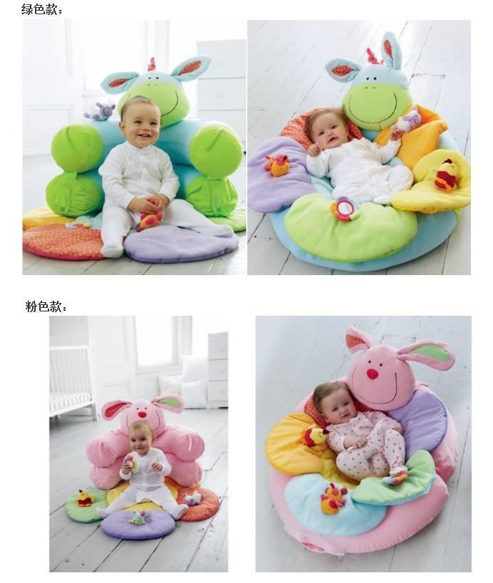 -Blue Color ELC Blossom Bauernhof Sit Me Up Cosy- Babyspielmatte Nest Infant Seat Aufblasbare Sofa Kinder Spielzeug, 2 Farben für Optionen