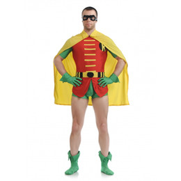 spandex robin costume UK - Robin Original Dick Grayson Robin Costume Halloween Cosplay Party Zentai Suit