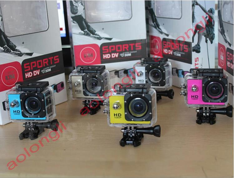 Neuer Helm Sport DV 1080P Full HD H.264 12MP Auto Recorder Tauchen Fahrrad Action Kamera Sport Wasserdichte Videokamera Camcorder DV SJ4000