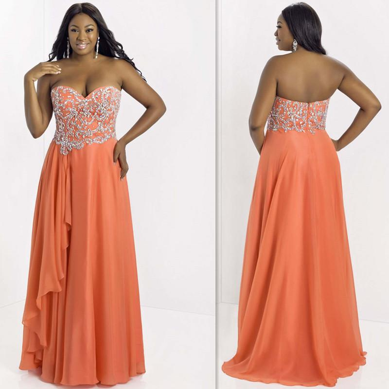 9910c62d09 glamour coral plus size evening dresses beaded