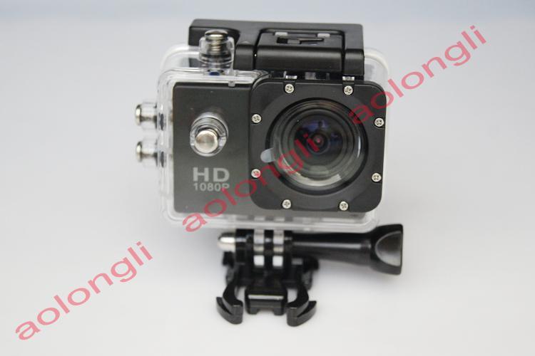 Novo Capacete Esportes DV 1080 P Full HD H.264 Gravador de 12MP Carro Gravador de Mergulho de Bicicleta Câmera de Ação À Prova D 'Água Câmera de Vídeo filmadora DV SJ4000