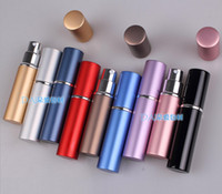 Wholesale Metal Spray Containers - Portable Perfume Bottle Refillable Aluminum spray bottles perfume atomizer Cosmetic Containers ( 5-6ml ) Environmental perfume bottles