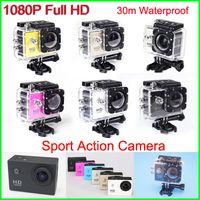 Wholesale Bicycle Camera Helmet - New Helmet Sports DV 1080P Full HD H.264 12MP Car Recorder Diving Bicycle Action Camera Sports Waterproof Video Camera Camcorder DV SJ4000