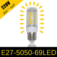 Wholesale Led Bulbs Rgb 15w - x10pcs E27 E26 E14 GU10 G9 LED Light Corn Bulb 5050 SMD 15W 69 LEDs 1450LM With Cover 360 degree Maize Lamp Cool Warm White 110V-240V