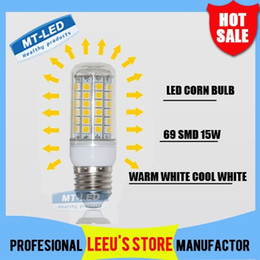 Wholesale led e14 69 - Epacket Free shipping High Bright Wall LED corn lamp E27 E14 G9 15W 69 LEDs 110-220V High Quality 5050 SMD Led light Con LED Bulb lighting