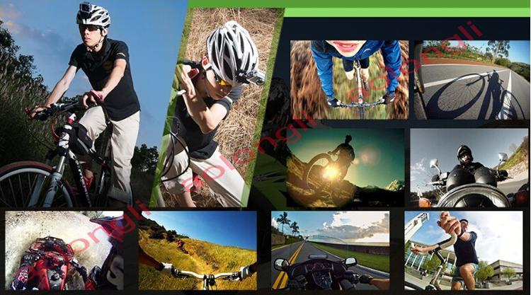 Nuevo Casco Sports DV 1080P Full HD H.264 12MP Grabadora de coches Buceo Bicicleta Cámara de acción Deportes Cámara de video impermeable Videocámara DV SJ4000