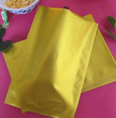 Fri frakt 14 * 20cm / matte guldfärgad värmeförsegling Aluminiumfoliepåse Maskförpackningspåse Matväska