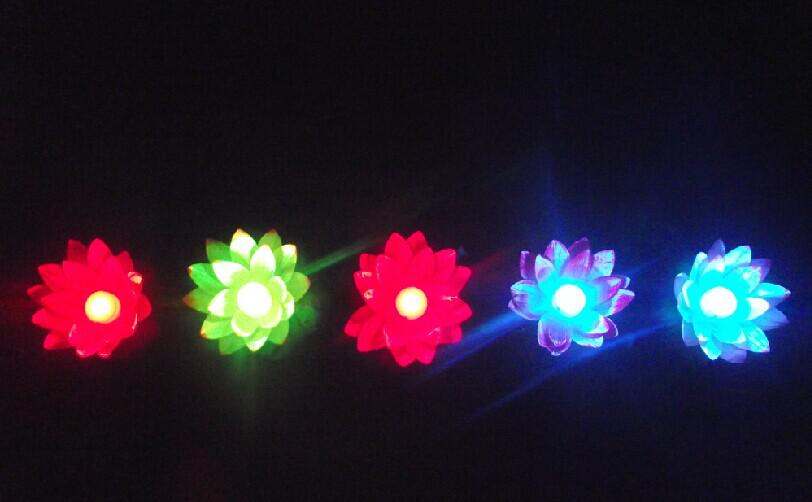 Diameter of 19 cm LED Artifical Lotus flower Colorful Changed Floating Water flower swiming Pool Wishing Light Lamps Lanterns for party