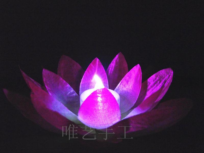 قطر 19 سم LED الاصطناعي لوتس زهرة ملونة تغيير المياه العائمة زهرة السباحه بركة متمنيا ضوء مصابيح الفوانيس إمدادات حزب