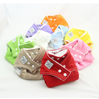 Wholesale Fitted Cloth Nappies - Fast Delivery 10PCS New one-size fit reusable diapers washable cloth diaper all in one diaper cover diaper nappy