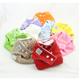 Wholesale One Size Diaper Covers - Fast Delivery 10PCS New one-size fit reusable diapers washable cloth diaper all in one diaper cover diaper nappy