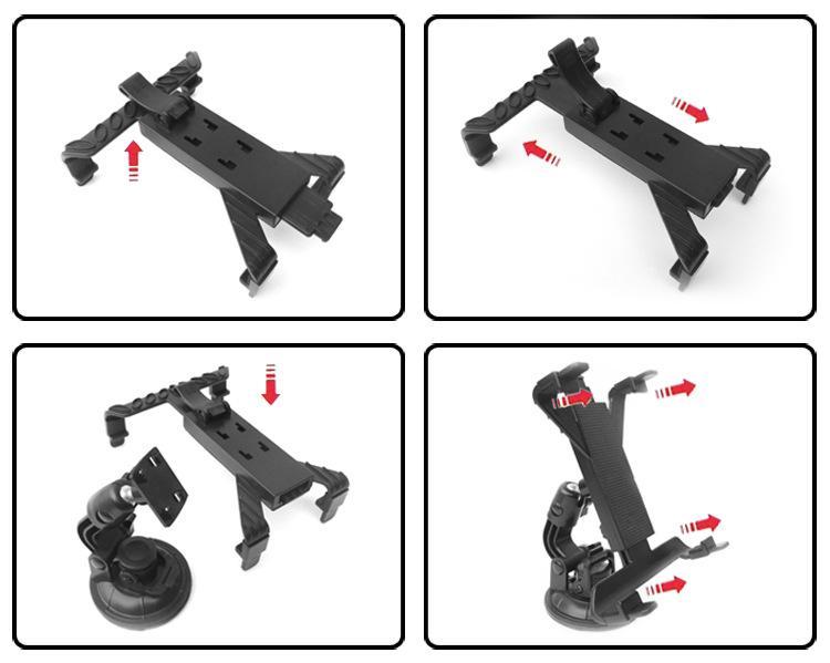 Soporte de montaje de coche universal nuevo para Tablet PC pad 7-10.1INCH GPS montaje en parabrisas / en paquete al por menor