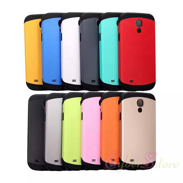 factory authentic 0f043 c4c4e For Galaxy S4 Mini Slim Armor Hybrid Shock Proof Heavy Duty Hard Back Case  Cover For Samsung S4 Mini I9190 Best Cell Phone Case Cell Phone Case Wallet  ...