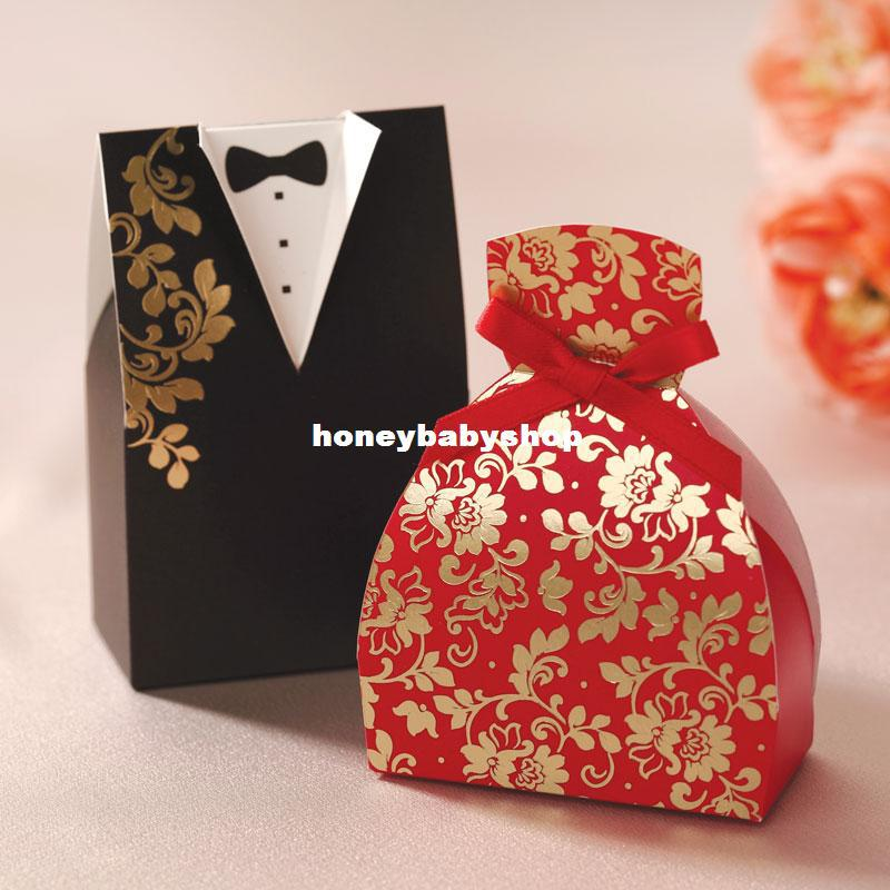 Wedding Candy Bags Paper Red And Black European American