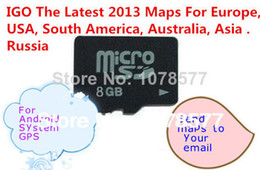 Wholesale Antenna For Gps - GPS IGO map sd card us 8GB with lastest GPS maps Europe, USA, South America, Australia, Asia Free Shipping For Android system
