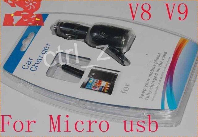 Mikro-USB V8 V9 Auto-Ladegerät-Stromadapter einziehbares USB-Kabel für Samsung-Galaxie bewegliches smartphone iphone mit Kleinhandel