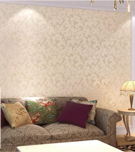 Victorian European Classic Vintage Glitter Damask Wallpaper Roll