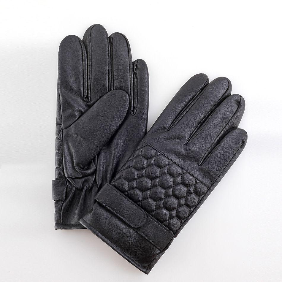 Xxl black leather gloves - 06