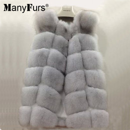 Wholesale Low Priced Skirts - ManyFurs 100% real natural Fox fur vest women winter slim luxurious furs vest only two piece lowest price