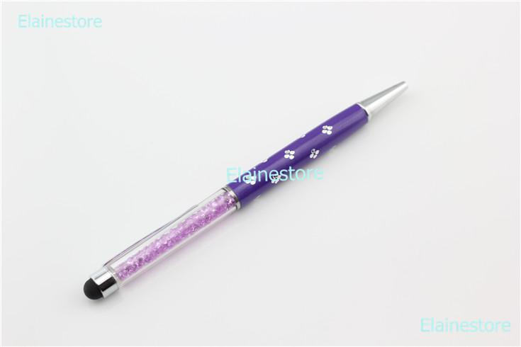 colors Crystal Flower Stylus Pen for iPhone 4S 5 5S Samsung S4 S3 iPad 2 3 mini HTC Sony Xperia High Capacitive Screen