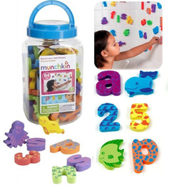 Манчкин новый дети ванна игрушки eva пены 26 письмо цифровой ведро 84 шт. детские плавающей игрушки когнитивные баррель от Поставщики детские развивающие игрушки