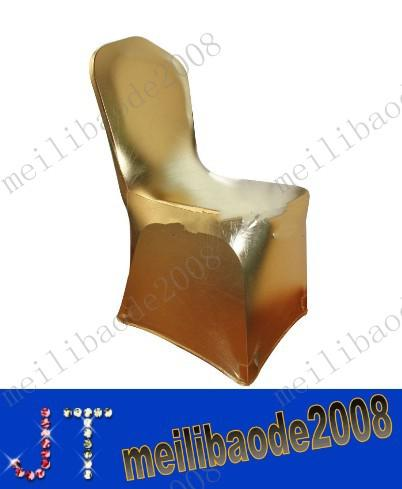 free shipping gold New Spandex Lycra Chair Covers for Wedding Party Hotels Decorations(no arch) MYY1774