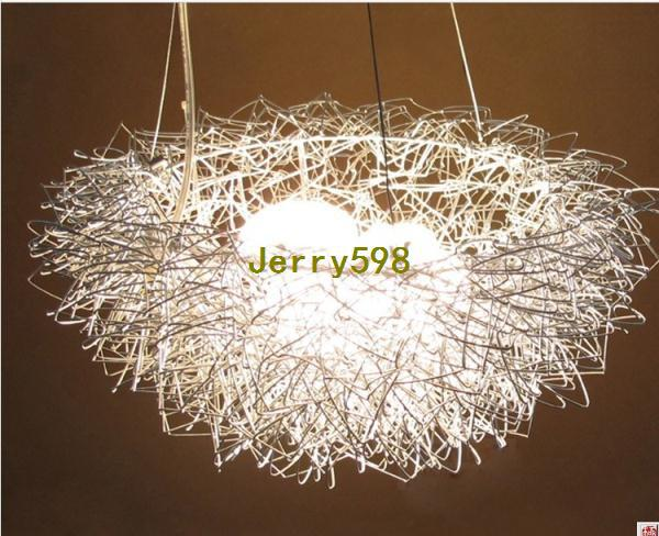 Aluminum wire birds nest chandelier ceiling light pendant lamp aluminum wire birds nest chandelier ceiling light pendant lamp lighting pendant light glass blown glass pendant light from jerry598 15056 dhgate mozeypictures Image collections