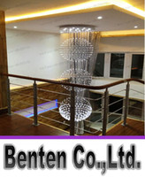 Wholesale Projects Quality - Chandelier Crystal K9 LED Simple Reliable Quality Three Ball Penthouse Villa Living Room Hotel Project Stair Lights Factory ShopLLFA5841