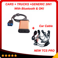 Wholesale Cdp Pro Cars Oki - 2015 R3 TCS scanner tcs pro for cars trucks with bluetooth & OKI + car cable DHL free shipping