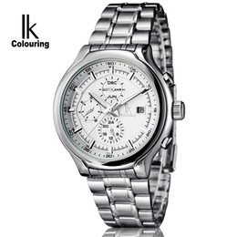 Wholesale Automatic Multifunction Watches - High Quality Men watches IK Colouring Multifunction Mechanical Business Casual Wristwatch for Men IK02