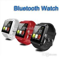дисплей звонящего оптовых-Bluetooth часы с LED время Caller ID дисплей водонепроницаемые часы телефон с сенсорным экраном часы smart Watch Phone Бесплатная доставка