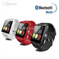 wrist watch gift box оптовых-U8 часы Bluetooth U8 Smart Watch наручные часы с высотомером для iPhone 6 Samsung S6 Note 5 HTC Android телефон в подарочной коробке