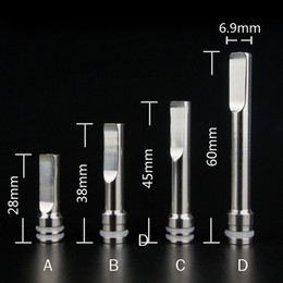 Wholesale Metal Tip Flats - Long oblate flat Stainless steel metal EGO 510 drip tip drip tipsDrip Tips for CE4 DCT EGO 510 Atomizer Mouthpieces
