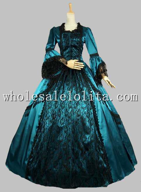Großhandel Marie Antoinette Viktorianischen Periode Kleid Satin ...