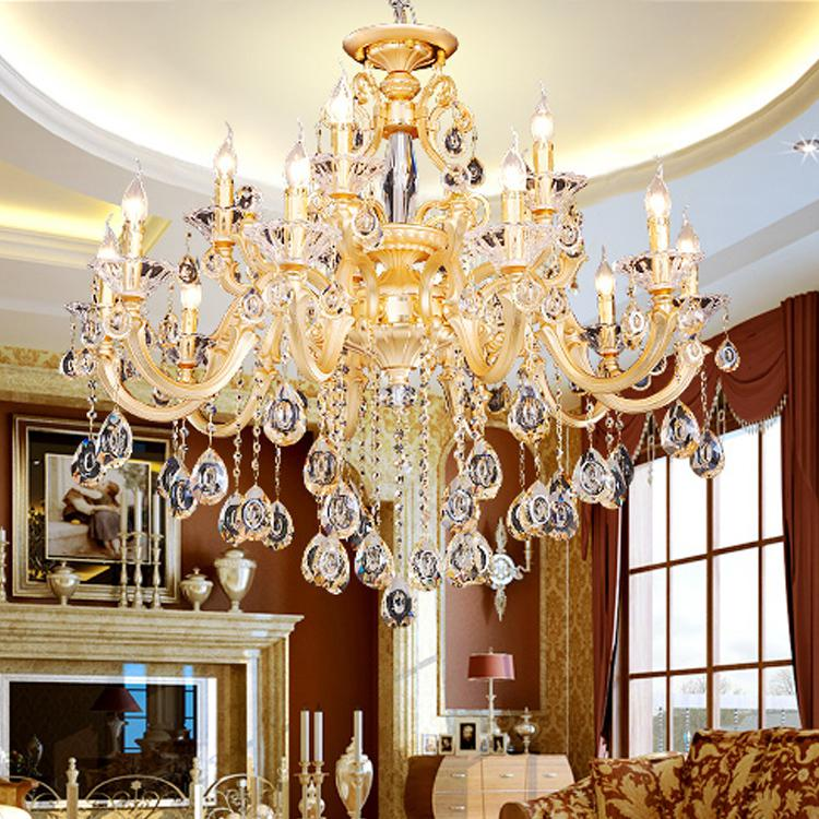 Gold arms big led chandelier large crystal chandelier luminaria see larger image aloadofball Choice Image