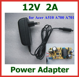 acer adapter Canada - 12V 2A 24W Charger EU US plug for Acer Iconia Tab A510 A700 A701 Tablet PC 10.1 inch Power Supply Adapter