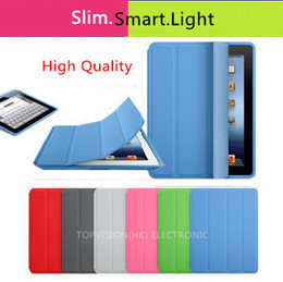 "Wholesale Slim Magnetic Smart Cover Case - High quality! ultra slim thin magnetic sleep wake back case+smart cover for apple ipad 2 3 4 and new ipad cases flip stand style 9.7""inch"