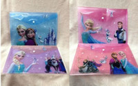 Wholesale new Christmas gift Cartoon Frozen envelope Purses Wallets Party Favor File bags