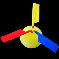Wholesale Long Balloons Wholesale - 300pcs-Balloon Helicopter balloon Toy children Toy self-combined Balloon Helicopter free shipping