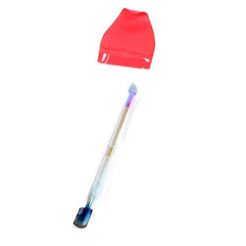 Narzędzia do paznokci Cutlip Color Titanium Professional Starszy Spoon 10 Sztuk / partia Oczyszczający Nail Cleaner Manicure Pedicare Ze Stali Nierdzewnej TTS-07