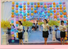 Wholesale Birthday Party Brown Pink - 2017 whole sale products 8 inch 20cm Round Chinese Paper Lantern for Birthday Wedding Party Decoration gift craft DIY