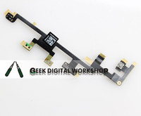 Wholesale ipad volume - 10 pcs lot Free Shipping Power Button Volume Switch Flex Cable Replacement for iPad 3 4