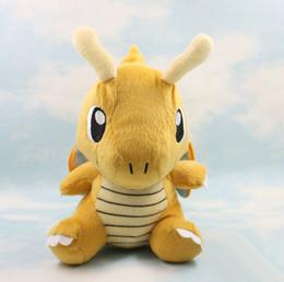 "Wholesale Pokemon Dragonite Toy - Movie Poke Dragonite plush doll 6.3"" Yellow Pikachu doll stuffed animal anime 16cm Poke Pet Plush doll toys"