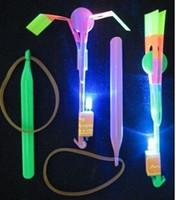 pfeile kostenlos großhandel-400 stück versandkostenfrei dhl special sale! Neueste Spielzeug LED Erstaunliche Pfeil Hubschrauber Fliegenschirm LED Flyer LED Pfeil Hubschrauber WJ876
