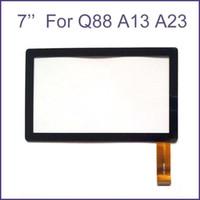 ingrosso nuovo display tablet-Brand New Touch Screen Vetro Display Digitizer Digitiser Sostituzione del Pannello Per 7 Pollice Q8 Q88 A13 A23 A33 ATM Tablet PC Parte di Riparazione MQ100