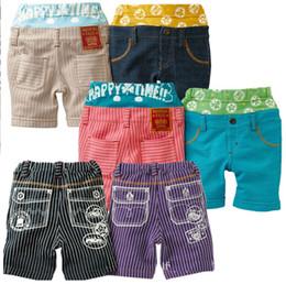 I pantaloni dei pp di estate dei bambini di estate più venduti 100% cotone doppio girovita delle ghette del corpo della tasca dei pantaloni casuali 5pieces / lot LK11 di qualità superiore in Offerta