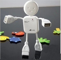 usb human venda por atacado-Alta Velocidade Boneca Forma 2.0 Hub USB 4 Portas concentrador humano-como as pessoas forma splitter deconcentrator para PC Laptop computador