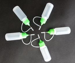 Wholesale Empty Electronic Cigarette - Electronic cigarette PE plastic empty dropper juice bottles filler needle tip bottle 10ml capacity 7 colorful cap