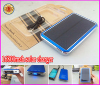 Wholesale Large Usb External Battery - Newenst Solar Powered 16800mAh Large Capacity 16800 mah USB Port External Battery Charger PAD Power Bank free shipping